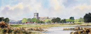 christchurch priory from stanpit wc web
