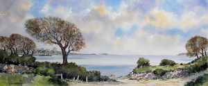 poole bay from alum chine retro web